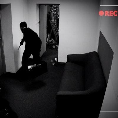 ladro scoperto da videocamera
